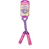 springtouw en elastiek paars/roze