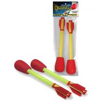 schietpijlen Stomp Rocket jongens foam rood/geel 2-delig