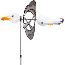 windmolen zeemeeuw 100 x 42 cm polyester wit/grijs