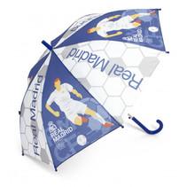 paraplu junior 58 cm transparant/blauw