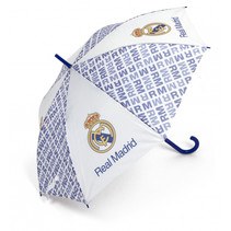 paraplu junior 58 cm wit/blauw