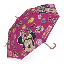 paraplu Minnie Mouse junior 48 cm roze emoji