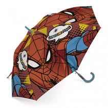 paraplu Spiderman junior 48 cm blauw