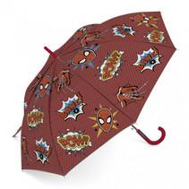 paraplu Spiderman junior 48 cm rood