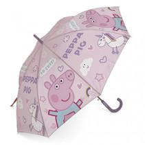 paraplu Peppa Pig junior 48 cm lila/roze