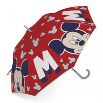 paraplu Mickey Mouse junior 48 cm rood