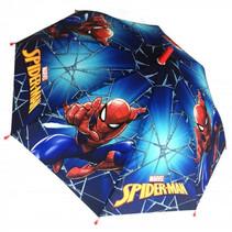 kinderparaplu Spider-Man jongens 46 cm polyester blauw