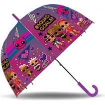 paraplu 47 cm PVC roze/paars