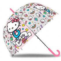 paraplu meisjes 45 cm roze/transparant