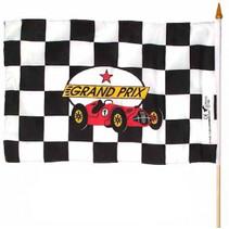 racevlag aan houten mast 60 cm