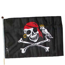 piratenvlag inclusief veilige mast lengte 60 cm
