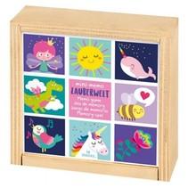 houten mini-memory 9,3 cm sprookjesfiguren