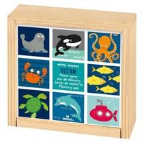houten mini-memory 9,3 cm zeedieren