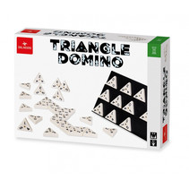 gezelschapsspel Triangle 3,5 cm wit/zwart 3-delig