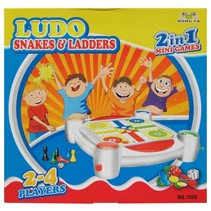 ludo & ladderspel 2-in-1 minigames