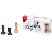 schaakstukken 7,5 cm beige/donkerbruin 3 stuks