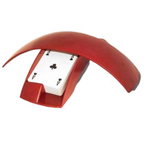 kaartbox 25 x 10 cm rood 3-delig