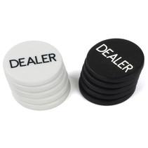 dealerchips poker 5 cm wit/zwart 10 stuks
