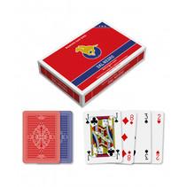 speelkaarten 6,3 x 8,8 cm PVC blauw/rood 2 stuks