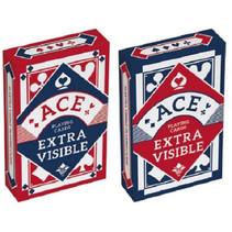 speelkaarten Poker karton blauw/rood (en) 2 stuks