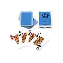 speelkaarten Black Jack 6,3 x 8,8 cm karton blauw