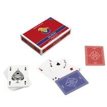 speelkaarten San Siro 8,8 cm rood/blauw 110-delig