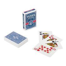 speelkaarten Texas 8,9 cm PVC blauw 55-delig
