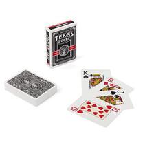 speelkaarten Texas 8,9 cm PVC zwart 55-delig