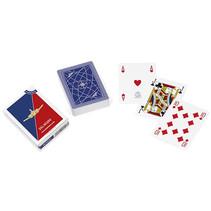speelkaarten Aereo Club 8,8 x 6,3 cm PVC blauw 55-delig
