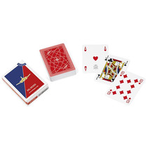 speelkaarten Aereo Club 8,8 x 6,3 cm PVC rood 55-delig