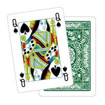 speelkaarten met bloemenpatroon Poker karton groen