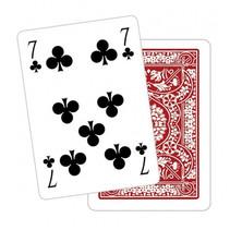 speelkaarten met bloemenpatroon Poker karton rood