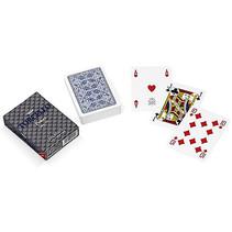 speelkaarten 8,8 x 6,3 cm PVC blauw 55-delig
