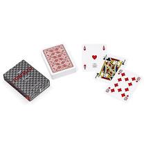 speelkaarten 8,8 x 6,3 cm PVC rood 55-delig