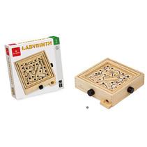 labyrinth 21,5 x 21,5 x 4 cm hout bruin