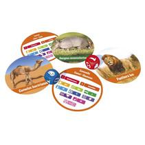 reisspel Zoogdieren 9 x 6 cm karton 51-delig (FR)