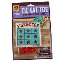 reisspel Wooden Tic Tac Toe Game