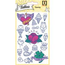 stickervel Tattoo Luck junior papier wit 18 stuks
