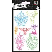 stickervel Tattoo Blades junior papier 8 stuks