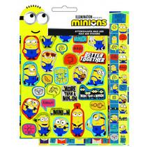 stickers Minions junior 23 cm vinyl geel 600 stuks