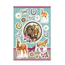 stickers Horses in Love meisjes 12 x 8,4 cm folie 17 stuks