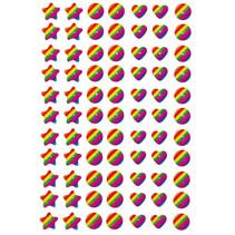 stickers Regenboog junior 12 x 8,4 cm folie 77 stuks