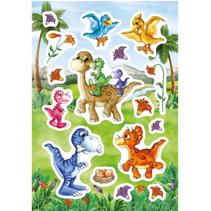 stickers Dino Baby's junior 12 x 8,4 cm folie 16 stuks