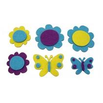viltstickers bloemen