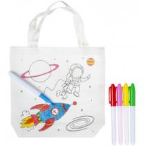 kleurset ruimte-tas junior 22 x 20 cm wit 5-delig