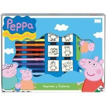kleurset Peppa Pig 22-delig blauw
