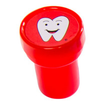 stempel tand 3,5 x 3 cm rood