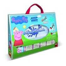 waterstempelset Peppa Pig 8-delig blauw