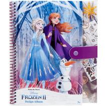 kleurboek A4 meisjes papier roze/paars