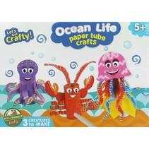 knutselset Ocean Life Paper Tube 56-delig